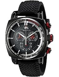 Ritmo Mundo Mens 2221/6 Black Red Racer Analog Display Swiss Quartz Black Watch