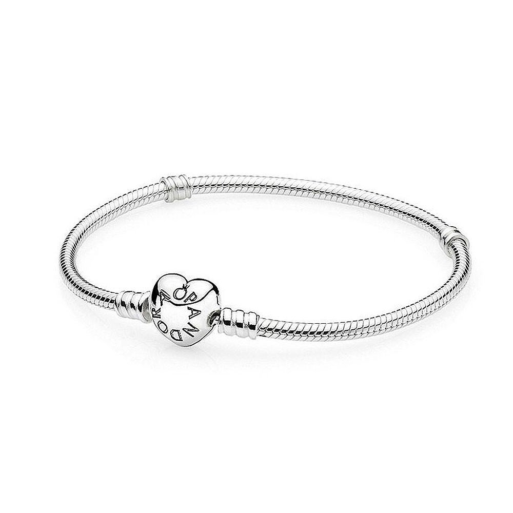 849a4000a Amazon.com: PANDORA HEART CLASP STERLING CHARM BRACELET 7.5 19CM MEDIUM:  Jewelry