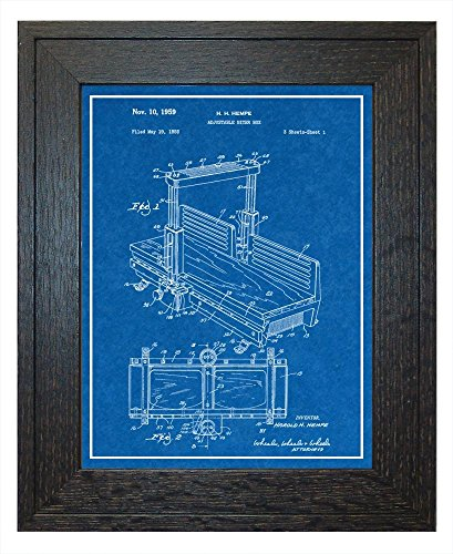 Adjustable Miter Box Patent Art Blueprint Print with a Borde