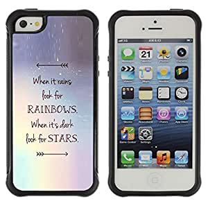 SHIMIN CAO@ Stars Arrow Rainbows Motivational Rugged Hybrid Armor Slim Protection Case Cover Shell For iphone 5S CASE Cover ,iphone 5 5S case,iphone5S plus cover ,Cases for iphone 5 5S