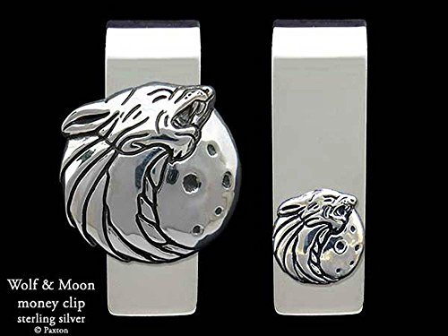 Wolf Head Money Clip in Solid Sterling Silver Hand Carved, Cast & Fabricated by Paxton by Paxton Jewelry