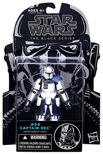 Wars Star Wars Figures Clone (Star Wars, The Black Series, Clone Wars Captain Rex Action Figure #09, 3.75 Inches)