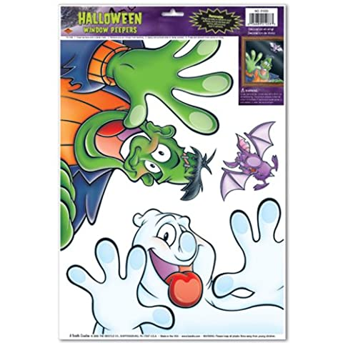 Halloween Peeper Clings Party Accessory (1 count) (3/Sh) (Ghost Busters 12 Inch)