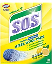 S.O.S Steel Wool Soap Pads, Lemon Fresh, 10 Count pack of 6