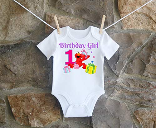 (Elmo 1st And 2nd Birthday Shirt For Girls, Elmo 1st Birthday Shirt For Toddlers, Elmo 2nd Birthday Shirt For)