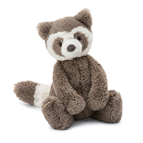 Jellycat Bashful Raccoon Stuffed Animal, Medium, 12 ()