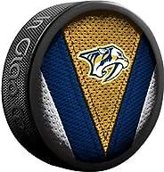 Inglasco Sher-Wood Stitch Logo Souvenir Hockey Puck - Predators