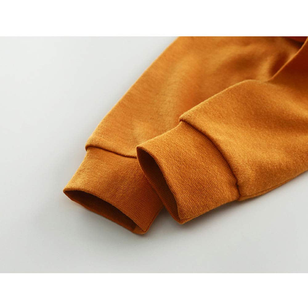 Manooby Pigiama a Maniche Lunghe per Ragazzi e Ragazze Pigiami Due Pezzi Indumenti da Notte in Cotone Cartone Animato Pigiama Set per 1-10 Anni 73-150cm