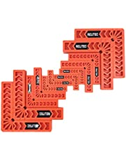 """Relitec R Positioning Squares, Right Angle Clamps, 90 Degree Corner Clamp, Woodworking Tools for Picture Frames, Boxes, Cabinets or Drawers, Carpenter Square Tool, Set of 12(3"""" 4"""" 6"""")"""