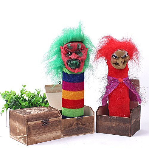 Halloween Wooden Box Horror Trick Prank Electric Voice Activated Decoration Toys Random Color]()