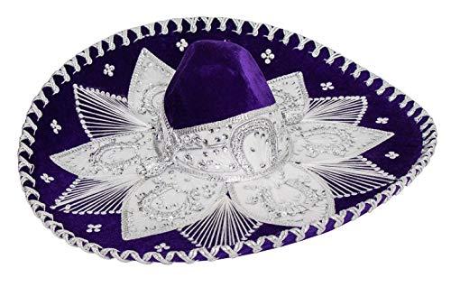 (Mexican Adult Mariachi Sombrero Hat, 5 de Mayo (Purple))