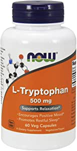 Now Supplements, L-Tryptophan 500 mg, 60 Veg Capsules
