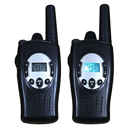 Topsung-Self-rechargeable-FRS-Walkie-Talkies-TS088-with-Crank-Dynamo-22-Channels-5km-Talk-Range-2-Way-Radio-with-Flashlight-Black-Pack-of-2