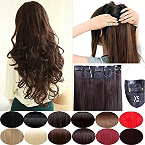 "S-noilite Elegant 30""(76cm) Longest Straight Ash Blonde 3/4 Full Head One Piece 5 Clips Clip in Hair Extensions USA Local Post"
