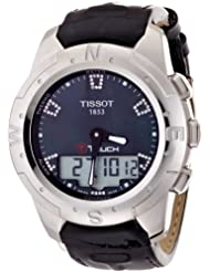 Tissot Womens T047.220.46.126.00 Black Mother-Of-Pearl Diamonds Index Dial Watch
