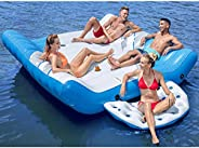 Tobin Sports Pacific Lounge Island, 4 Person Inflatable Raft with Cup Holders