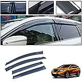 for Nissan Murano 2015-2019 Smoke Deflector Sun Rain Visor Guard Wind Deflectors Car Styling Front Rear Shade Vent Window