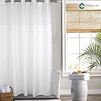 Amazon.com: Hookless Shower Curtain by COMFECTO Waterproof Polyester ...