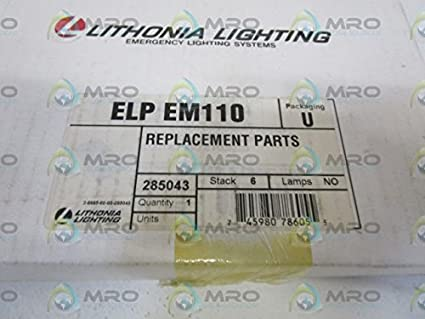LITHONIA LIGHTING REPLACEMENT PARTS ELP EM110NEW IN BOX & LITHONIA LIGHTING REPLACEMENT PARTS ELP EM110NEW IN BOX: Amazon.com ...