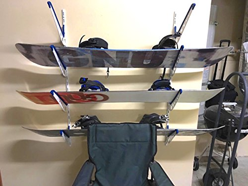 Metal Snowboard Storage Rack | Adjustable Home Wall Mount | StoreYourBoard