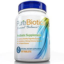 Pure Probiotics Supplement Pearl sized tablet, Improve Digestion & Boost Immunity