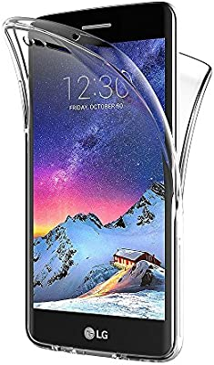 AICEK Funda LG K8 2017, Transparente Silicona 360°Full Body Fundas ...
