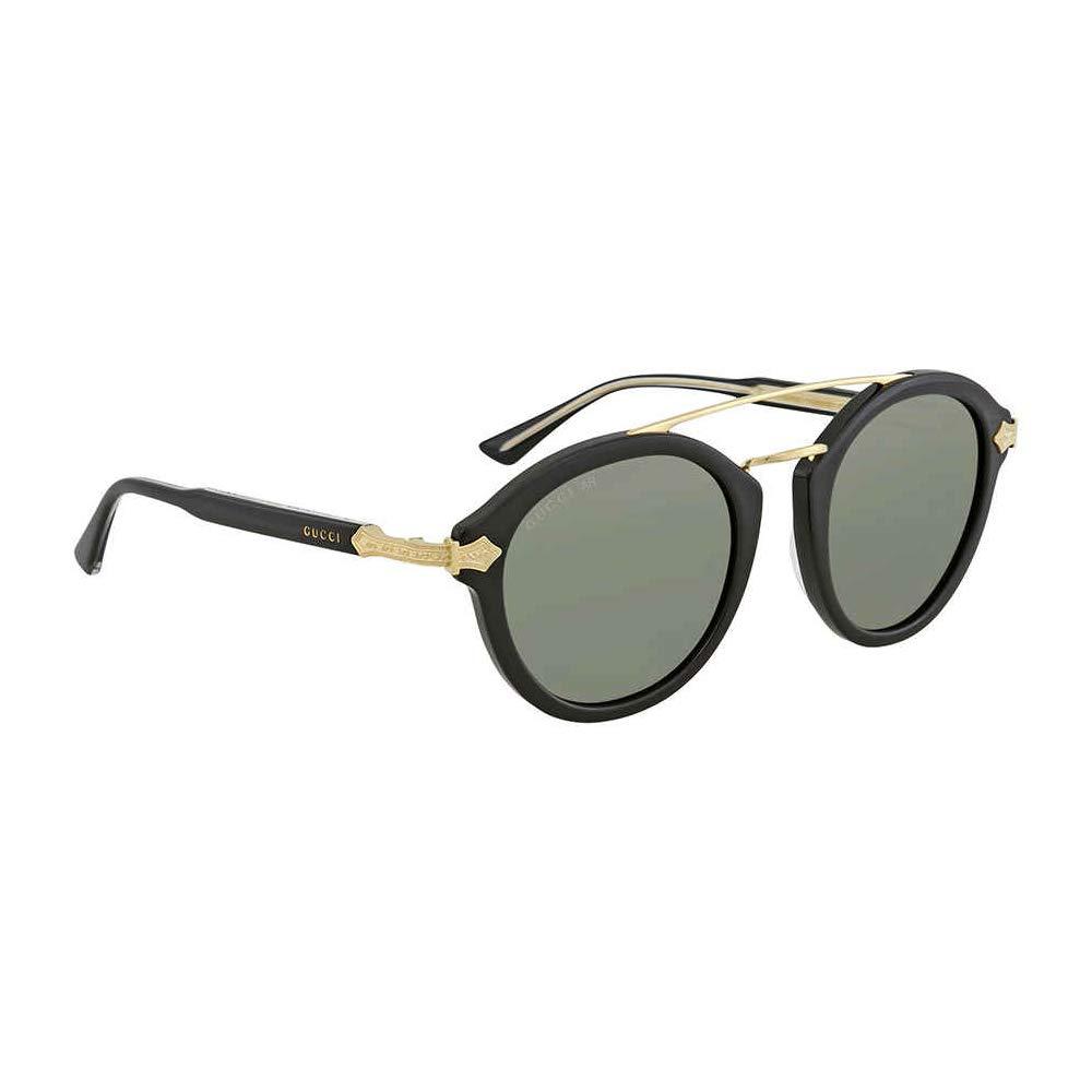 Amazon.com: Gucci verde anteojos de sol redondas gg0090s 001 ...
