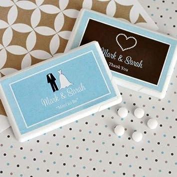 Mint To Be Wedding Favors   Amazon Com 25 Personalized Themed Mini Mint Box Bridal Wedding