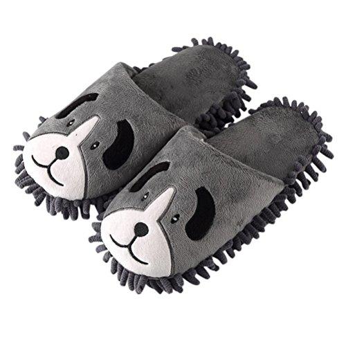 Doux Coton Plat de Intérieur Anti chien Mignon Chambre Dessinée Toe Fermé de Chaussures Lavable YUTIANHOME Slip Hommes Bande Pantoufles Maison Chaud de SwAqWq0Xg