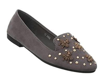 Damen Schuhe Halbschuhe Slipper Coole Flache Ballerinas