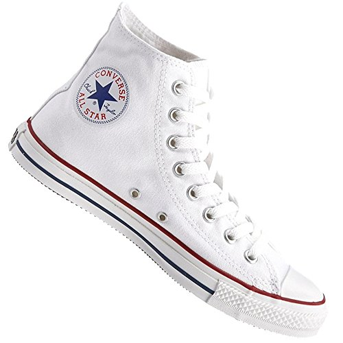 Converse Basketballschuhe All Star Hi Rising – Classic Chuck Taylor – Optical White, Weiß Weiß