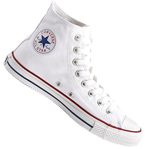 Converse Basketballschuhe All Star Hi Rising–Classic Chuck Taylor–Optical White, Weiß Weiß