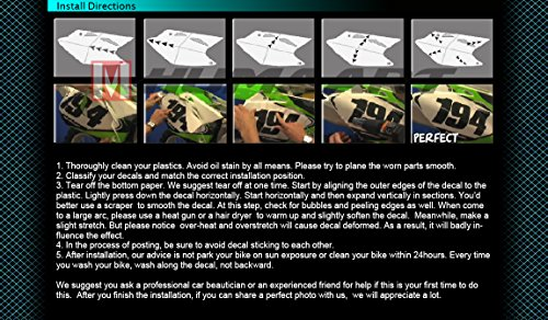 Kungfu Graphics Rockstar Custom Decal Kit for Yamaha YZ125 YZ250 1996 1997 1998 1999 2000 2001, Black White by Kungfu Graphics (Image #2)'