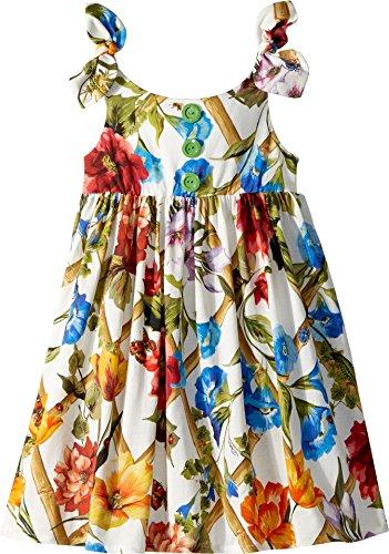 Dolce & Gabbana Kids Baby Girl's Sleeveless Dress (Toddler/Little Kids) White Print 5 by Dolce & Gabbana