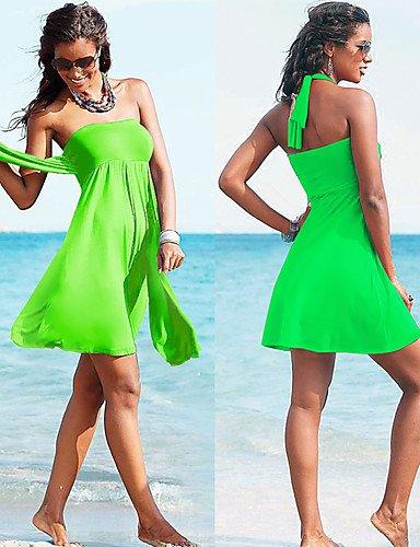 pwne Diseñador De Moda Mayorista Caliente Vintage 2015 Convertible Multi-Wear Crochet Playa Encubrir S.M.L.Xl Green
