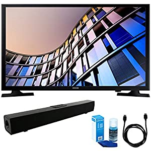 Samsung UN32M4500 32-Inch 720p Smart LED TV (2017 Model) w/ Sound Bar Bundle Includes, Solo X3 Bluetooth Home Theater Sound Bar, 6ft High Speed HDMI Cable and LED TV Screen Cleaner