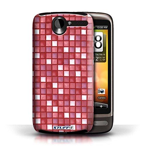 Etui / Coque pour HTC Desire G7 / Rouge conception / Collection de Carreau Bain