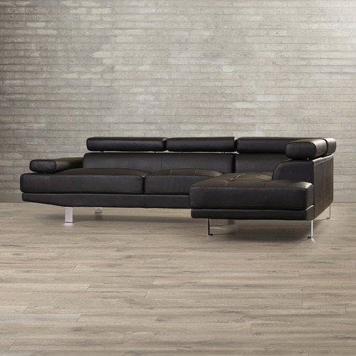Modern Faux Leather Sectional Sofa Agosto Sectional Studio Office living room furniture Stylish and Elegant