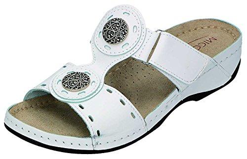 MICCOS - Zuecos para mujer Blanco blanco Blanco - blanco