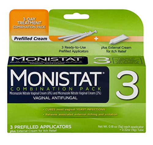 Monistat 3-Day Yeast Infection Treatment | Prefilled Applicators + Itch - 3 Day Monistat Treatment