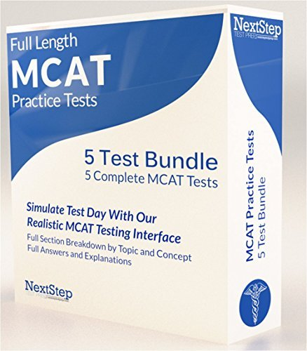 (MCAT Practice Tests -- Next Step Test Preparation's 5 Full-Length Revised MCAT Exams (digital product key))