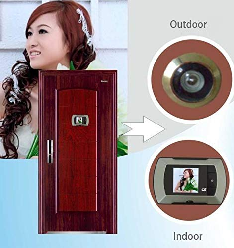 Fandazzie LCD Hidden Front Door Peephole Camera Wireless, 2.4 inch Wide Angle Electronic Viewer Cat Eye Doorbell HD Camera Peephole for Home Security (1 Set) by Fandazzie (Image #4)
