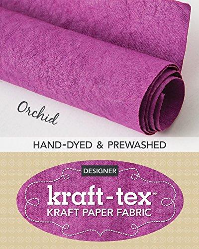 kraft-tex Orchid Hand-Dyed & Prewashed: Kraft Paper Fabric, 18.5