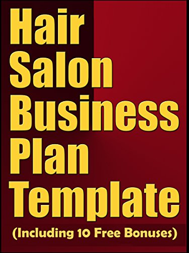 Amazoncom Hair Salon Business Plan Template Including Free - Free hair salon business plan template
