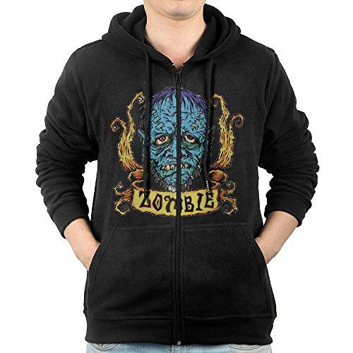 Rob Zombie Blue Zombie Sticker Mens Zip Up Pocket Fashion Hoodie Sweatshirt -