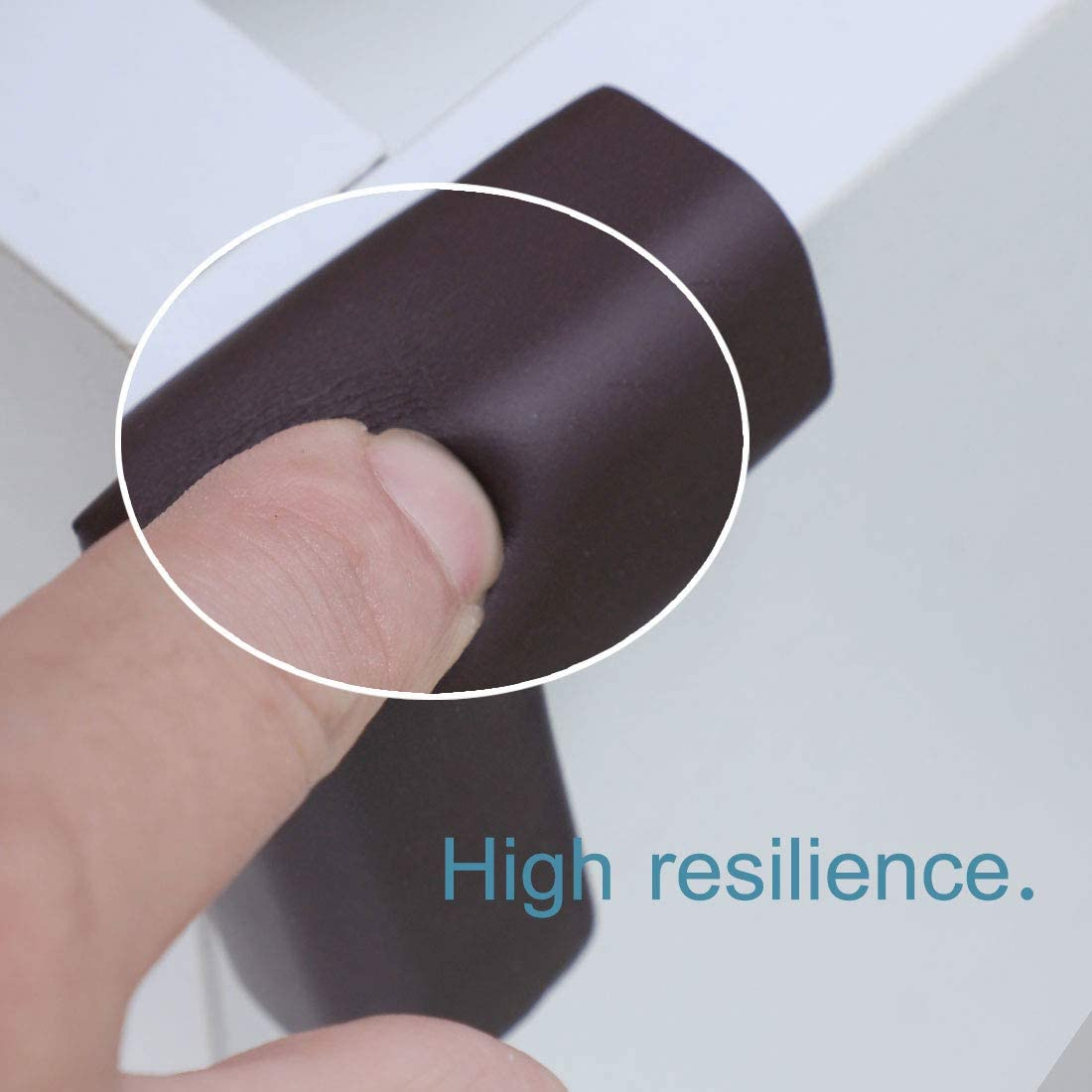 uxcell 4pcs Foam Furniture Desks Table Edge Cover Pads Protectors Corner Cushions Bumpers Guards Dark Brown