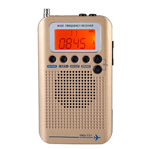 Multi Band Radio Receiver Scanners/Hand-held/Frequency bands: AIR FM AM CB SW VHF build in Rechargeable Battery Portable…