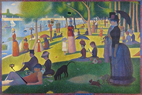Modern Sunday Afternoon on The Island of La Grande Jatte Seurat Art Humor Cool Wall Decor Art Print Poster 24x36 (A Sunday Afternoon On The Grande Jatte)