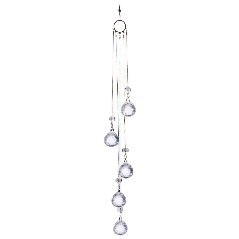 Crystals Ball Prisms Suncatcher Hanging Ornament Rainbow Maker for Home,Garden Decoration