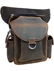 Vagabond Traveler 10 Cowhide Leather Fashion Waist Fanny Pack L86